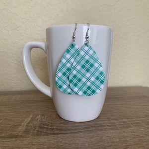 St. Patrick's Day Earrings - Green Plaid 2